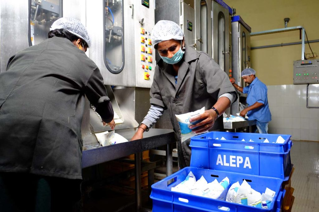 Alepa Dairy 500ml Pouch Packaging